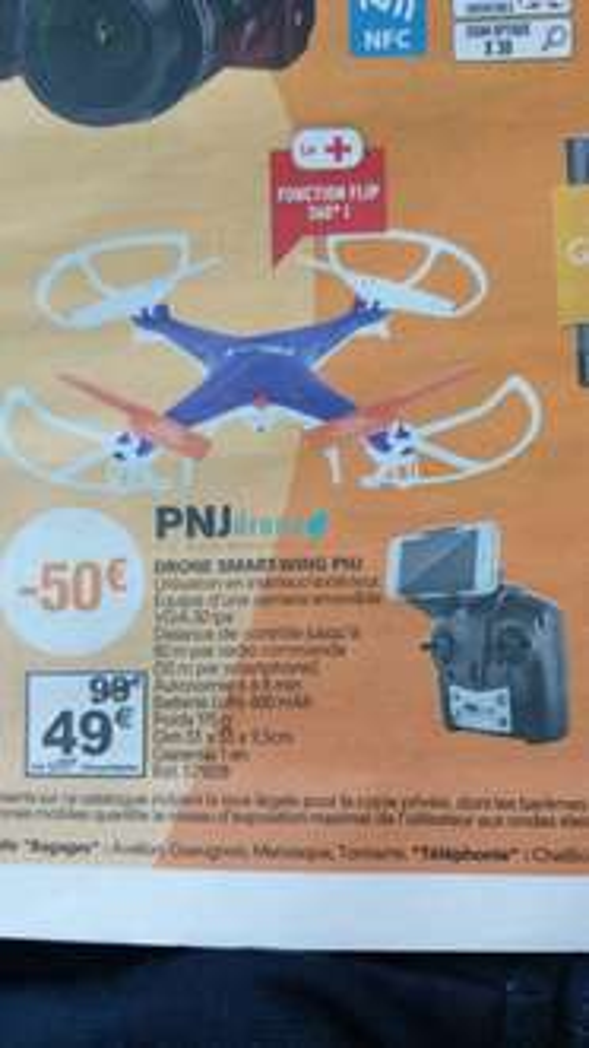 Drone Smart-Wing PNJdrone - avec caméra VGA 30ips