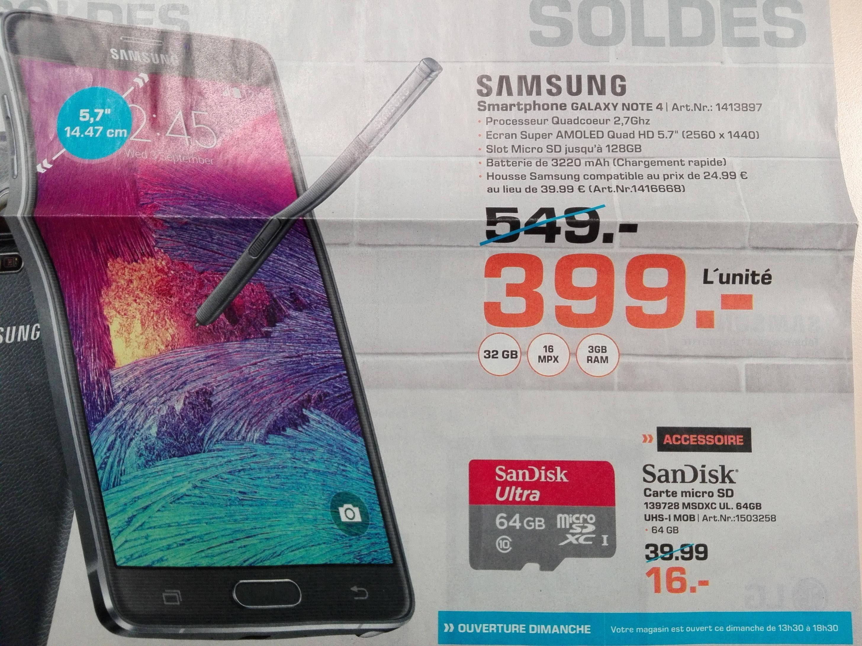 "Smartphone 5.7"" Samsung Galaxy Note 4"