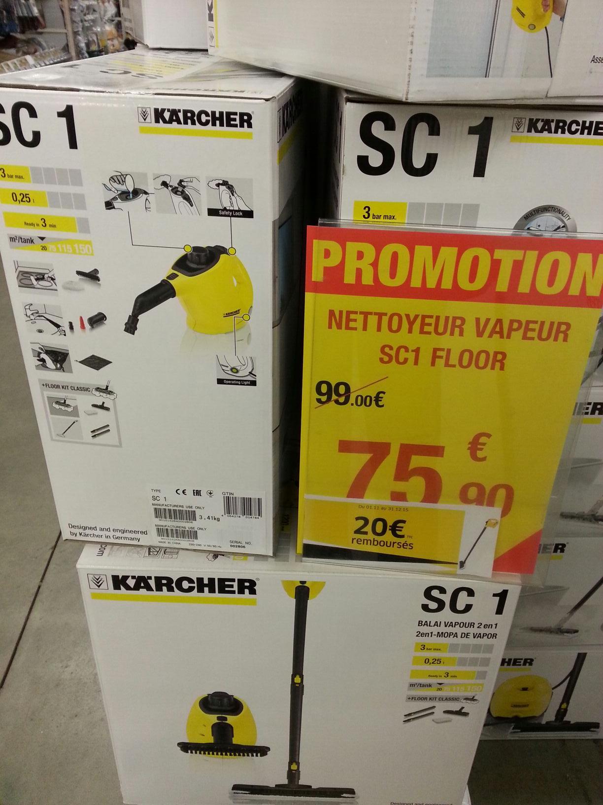 Nettoyeur vapeur Karcher SC1 (via ODR de 20€)
