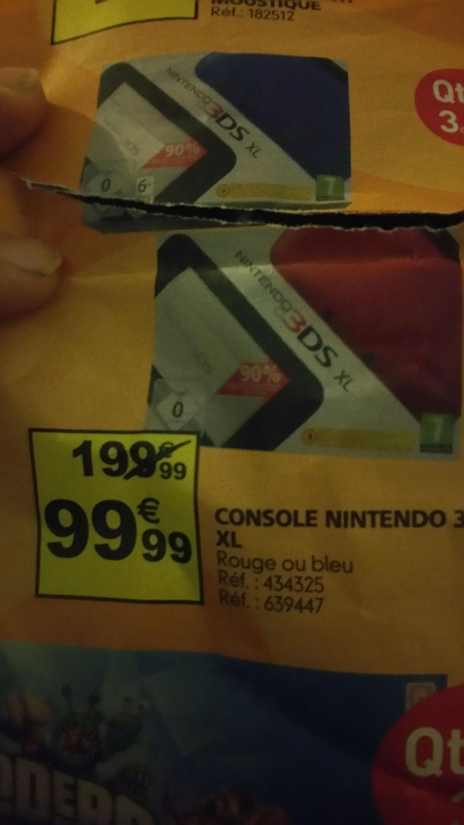 Console Nintendo 3DS XL - Rouge ou Noire