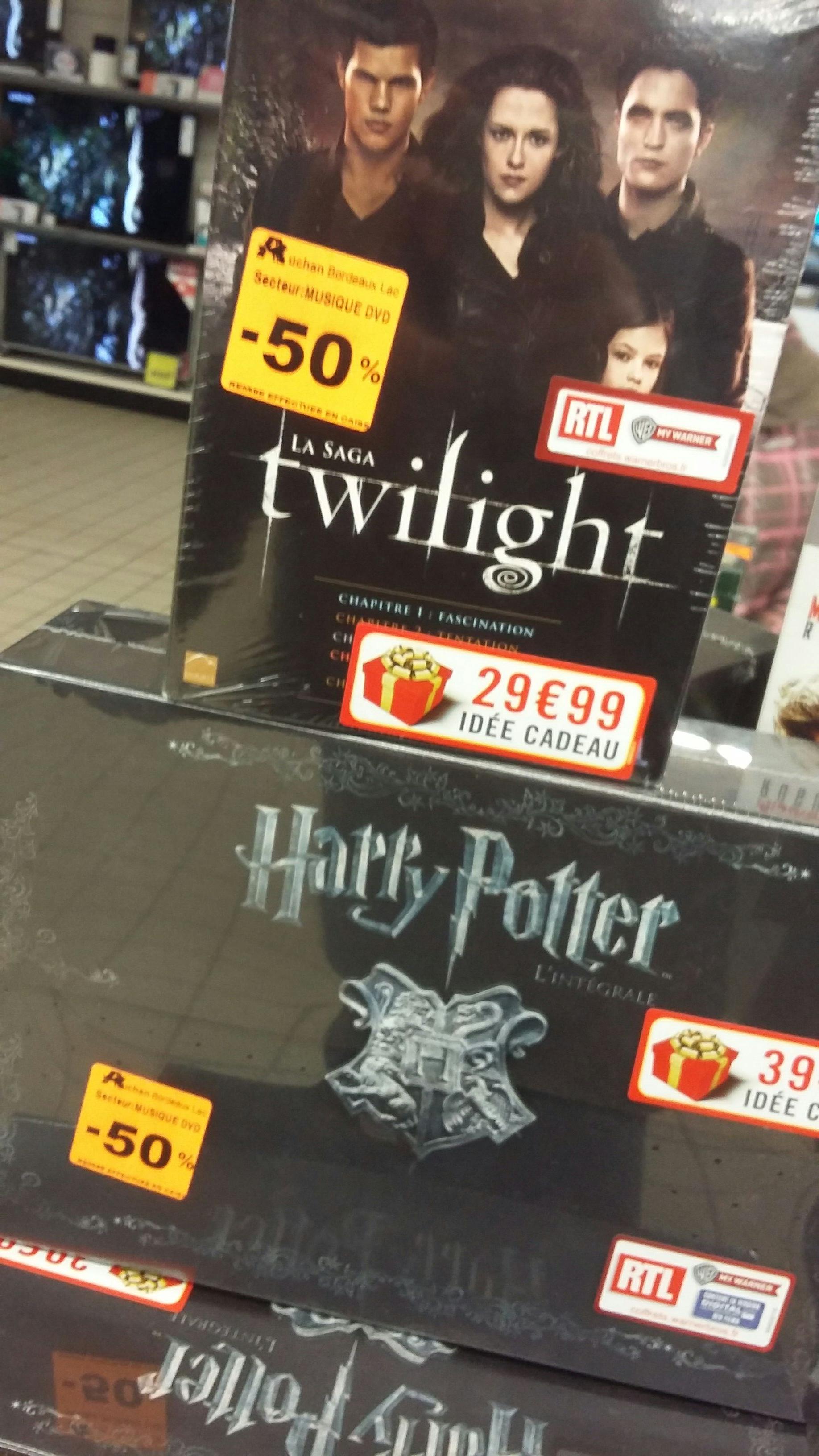 Sélection coffret DVD en promo - Ex :  Coffret DVD Intégrale Harry Potter