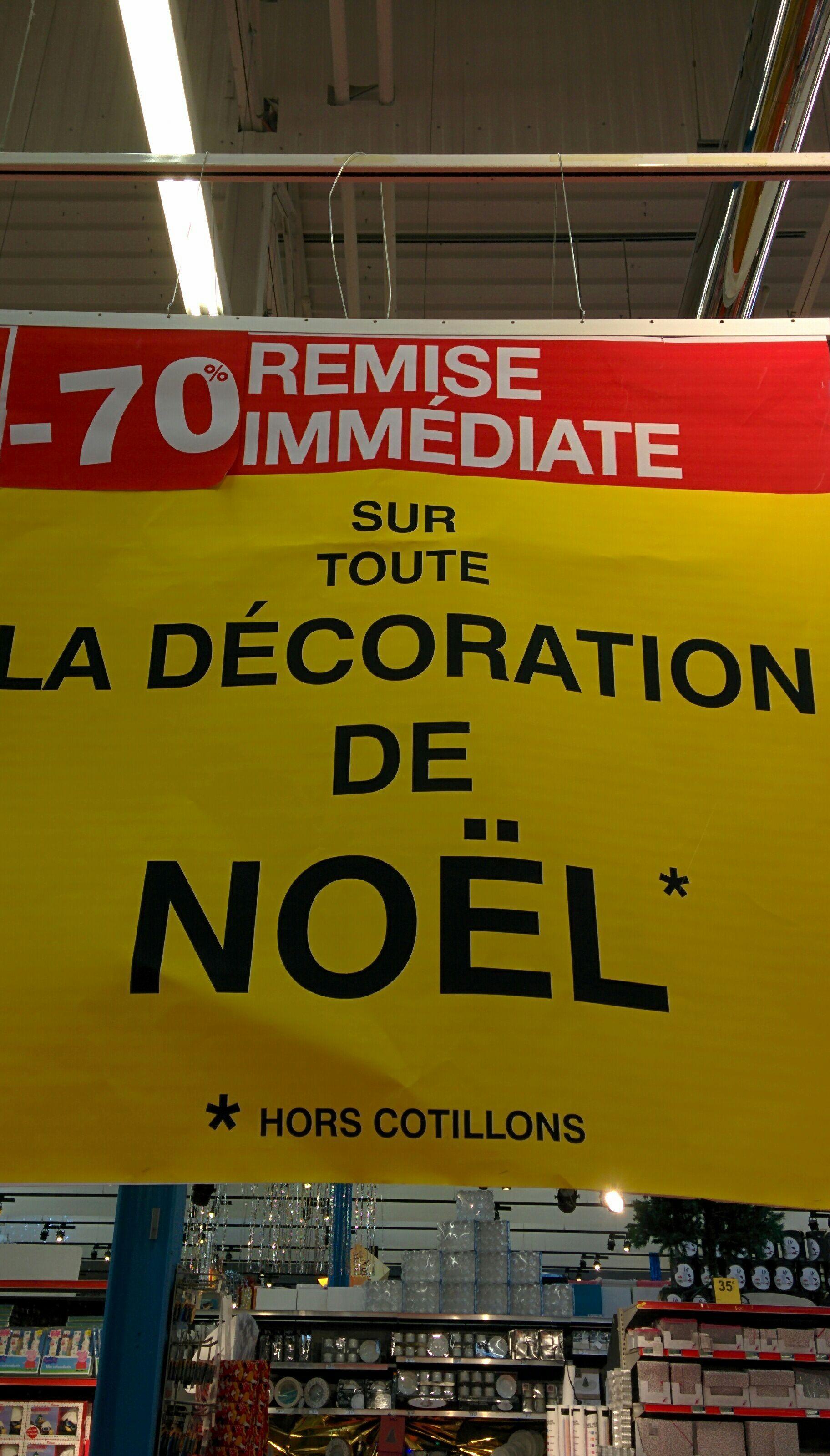 70% de réduction immédiate sur toute la décoration de Noël