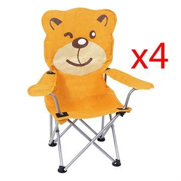 Lot de 4 chaises pliables ourson pour enfant