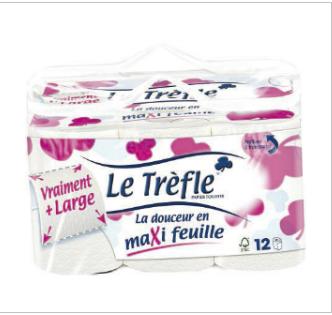 """Papier Toilettes """"LE TREFLE"""" Maxi feuilles"""