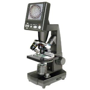 Microscope Bresser à écran LCD 8.9cm avec grossissement optique 40x et Photo 2MP