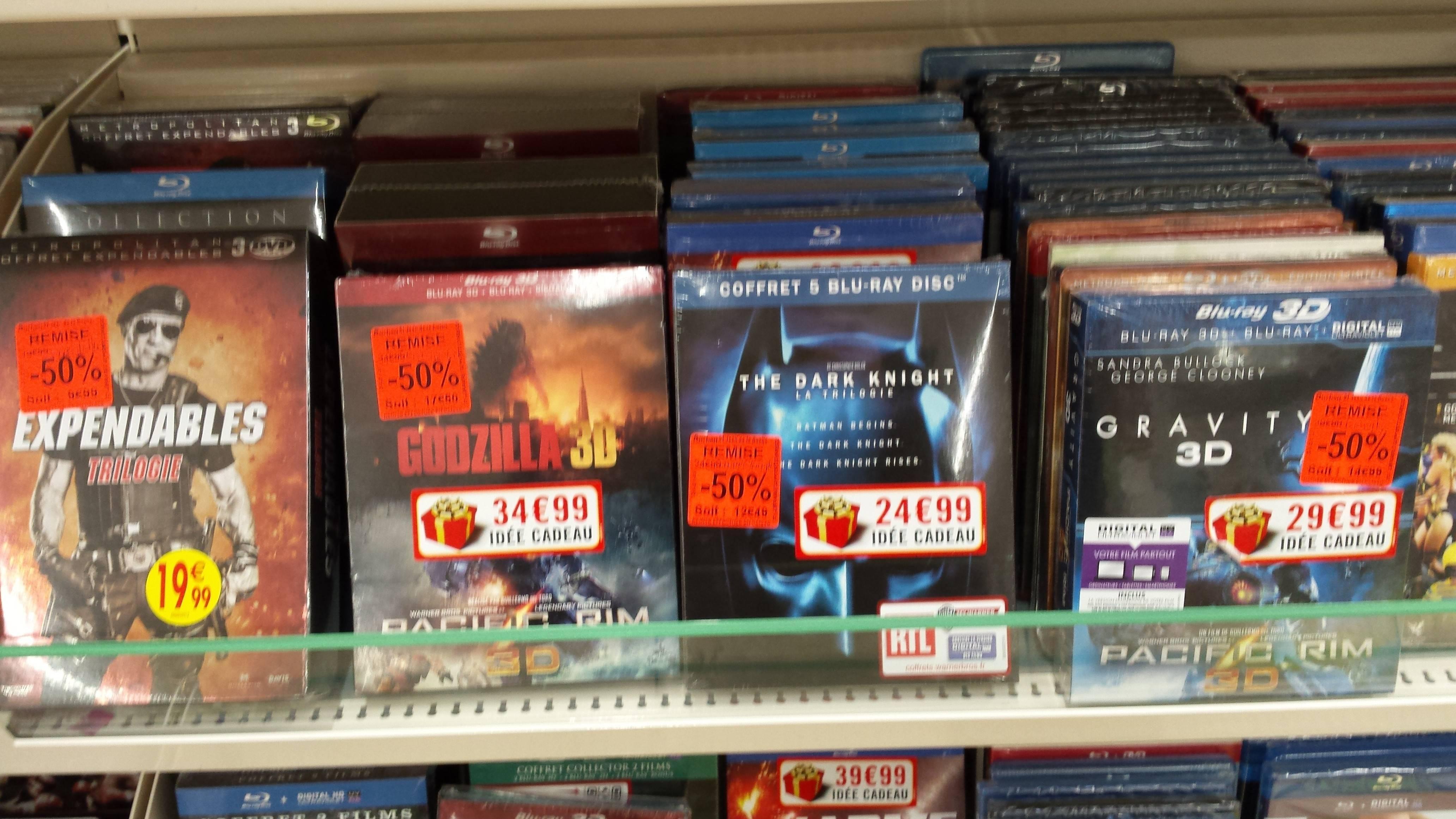 Sélection de DVD et Blu-ray en promo - Ex : Coffret Blu-ray Expendables Trilogie