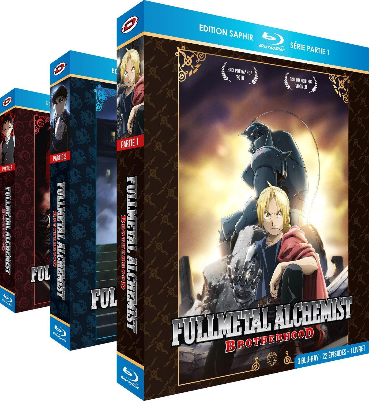 Sélection de coffrets DVD et Blu-ray de séries en promos - Ex : Blu-Ray Fullmetal Alchemist Brotherhood - Intégrale - 3 Coffrets  + 4 OAV + 3 Livrets
