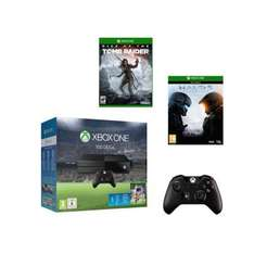 Console Xbox One 500Go + Fifa 16 + Manette supplémentaire + Halo 5 + Rise Of The Tomb Raider