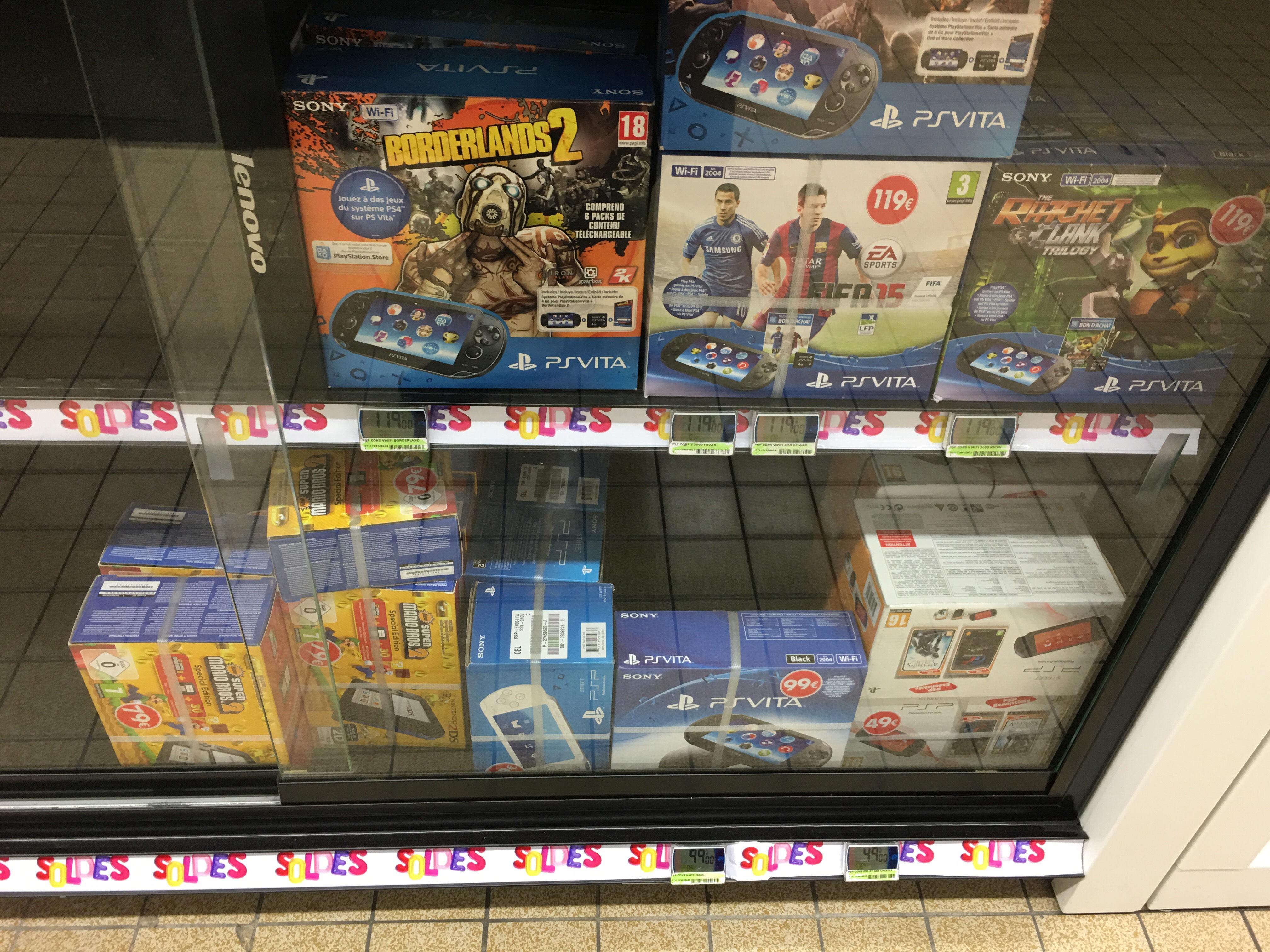 Console Sony PS Vita à 99€ et PSP E1004 + 2 Jeux