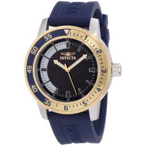 Invicta Watch - 12847 - Montre Homme - Quartz Analogique - Bracelet Plastique Bleu