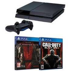 Pack PS4 500 Go Noire (C) + Metal Gear Solid V: The Phantom Pain + Call of Duty Black Ops III