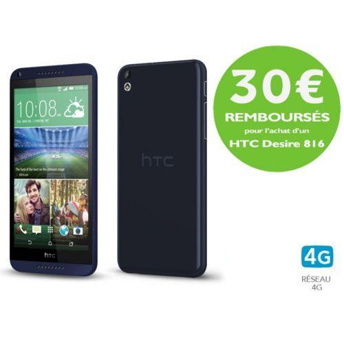"Smartphone 5.5"" HTC Desire 816 - 4G, HD, Snapdragon 400 1.6 GHz, RAM 1.5 Go, ROM 8 Go, Bleu (ODR de 30€)"