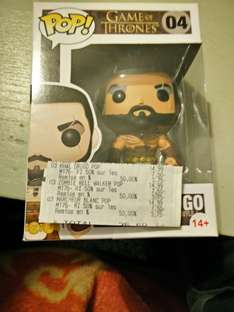 Sélection de figurines Funko Pop - Ex : Figurine Khal Drogo