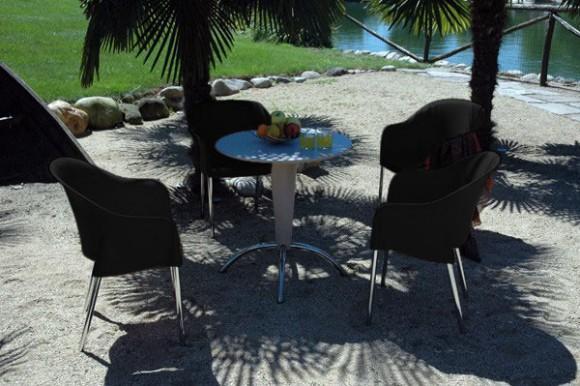 Salon de jardin Nobilis Shaf (4 chaises + 1 table)