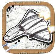 Jeu Shock-X - Space shooter wars paper gratuit sur iOS (au lieu de 0.99€)