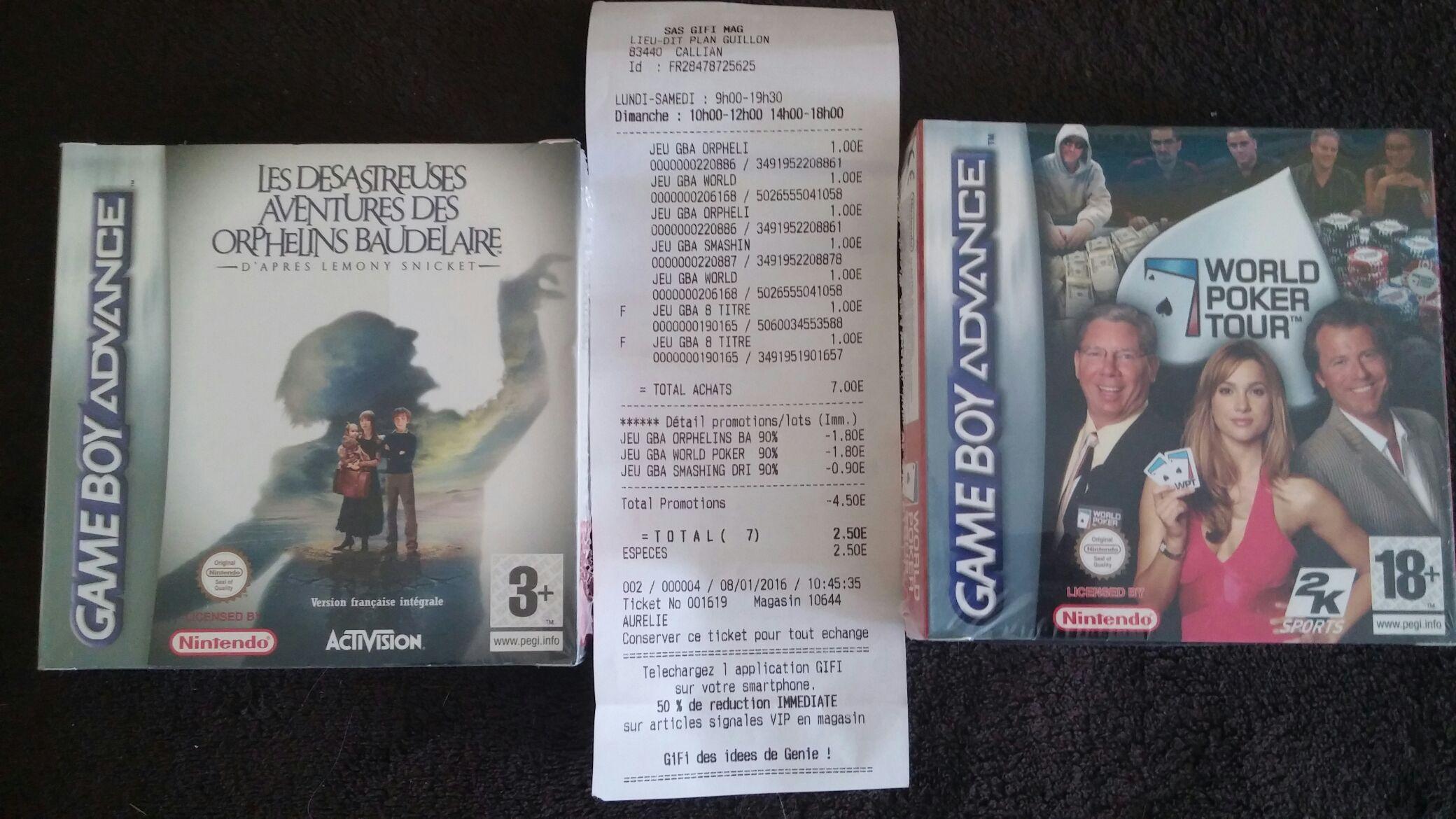 Sélection de Jeux GameBoy Advance