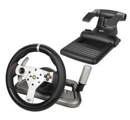 Volant Microsoft Madcatz Force FeedBack Racing Wheel sans fil pour XBOX 360