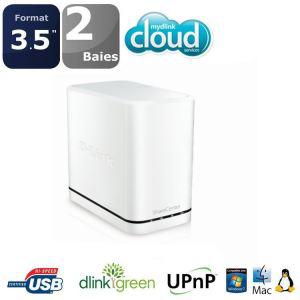 Serveur Dlink NAS 2 Baies Mydlink Cloud Blanc