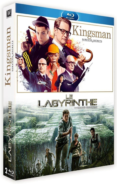 Coffret Blu-ray : Kingsman : Services secrets + Le Labyrinthe