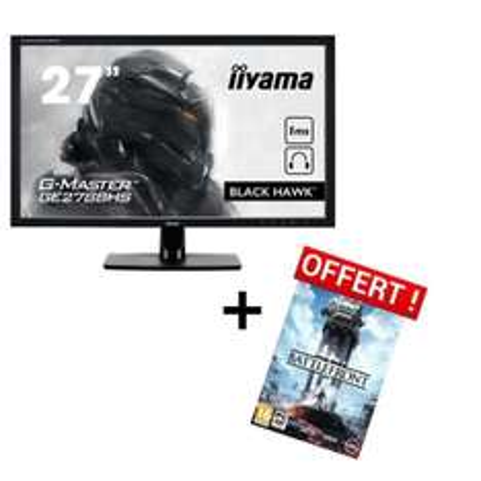 "Ecran 27"" Iiyama G-Master GE2788HS-B1 + Jeu PC Star Wars Battlefront"