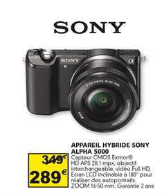 Appareil photo hybride Sony A5000