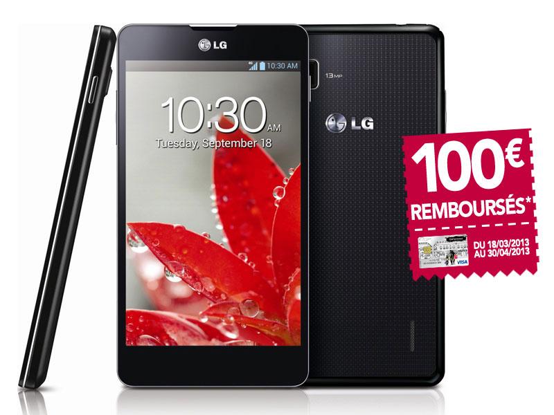 Smartphone LG Optimus G (Avec ODR de 100€ sous forme d'une carte Visa)
