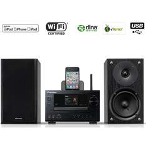 Micro-chaîne Dock iPod/iPhone Pioneer Noir X-HM71-K
