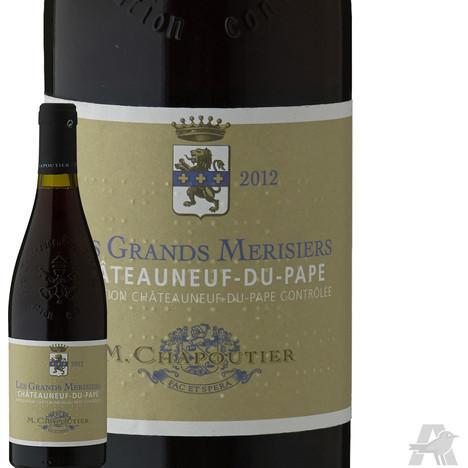 Bouteille de vin rouge Chapoutier Les Grands Merisiers Châteauneuf du Pape Rouge 2012