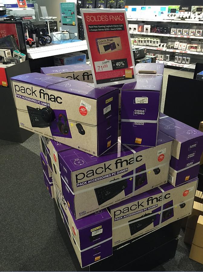 Pack Gaming Logitech Clavier G105 + Souris G300s+ Casque G230