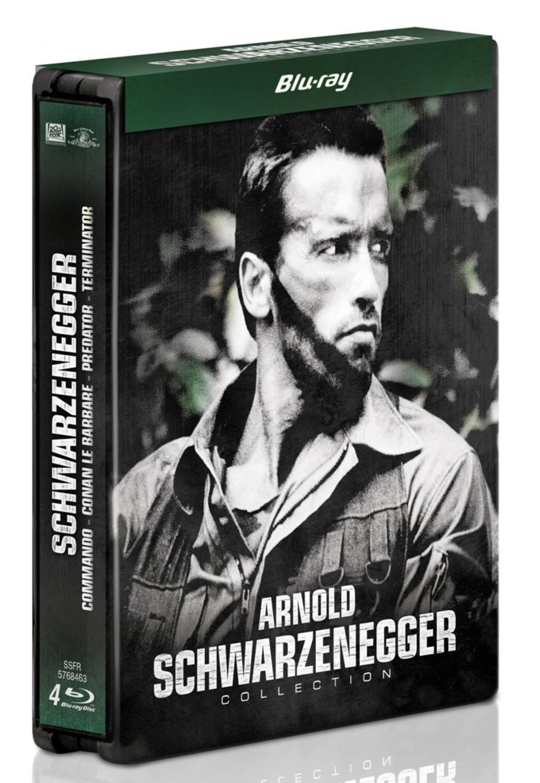 Coffret Blu-Ray : Arnold Schwarzenegger : Conan le barbare + Commando + Predator + Terminator - Édition Limitée SteelBook