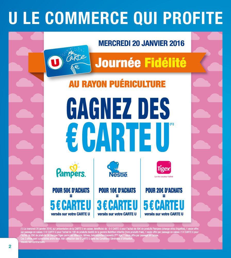 3€ offerts sur la carte dés 10€ d'achats sur Nestlé, 5€ dès 50€ sur Pampers et 5€ dès 20€ sur Tigex