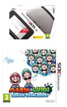Console Nintendo 3DS XL + Mario et Luigi : Dream Team Bros