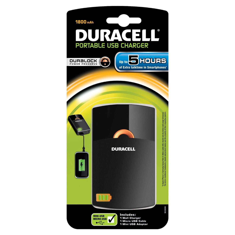 [Panier plus] Chargeur USB Duracell Duralock 1800 mAh