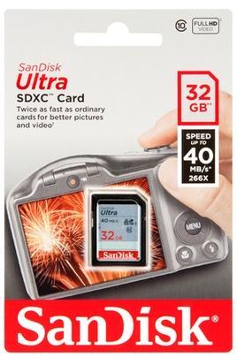 Carte mémoire SDHC SanDisk Ultra Class 10 - 32 Go