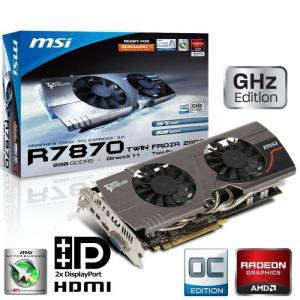 Carte graphique MSI AMD Radeon HD7870 2 Go GDDR5 OC Twin Frozr 3