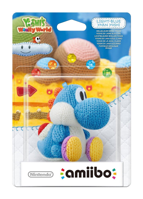 Figurine Nintendo Yoshi en laine bleu ciel ou rose