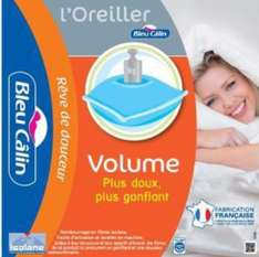 Lot de 2 oreillers bleu calin 60X60
