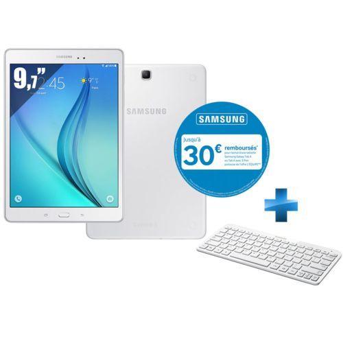"""Tablette 9.7"""" Samsung - Galaxy tab A - 16 go + clavier bluetooth (via 30€ ODR)"""