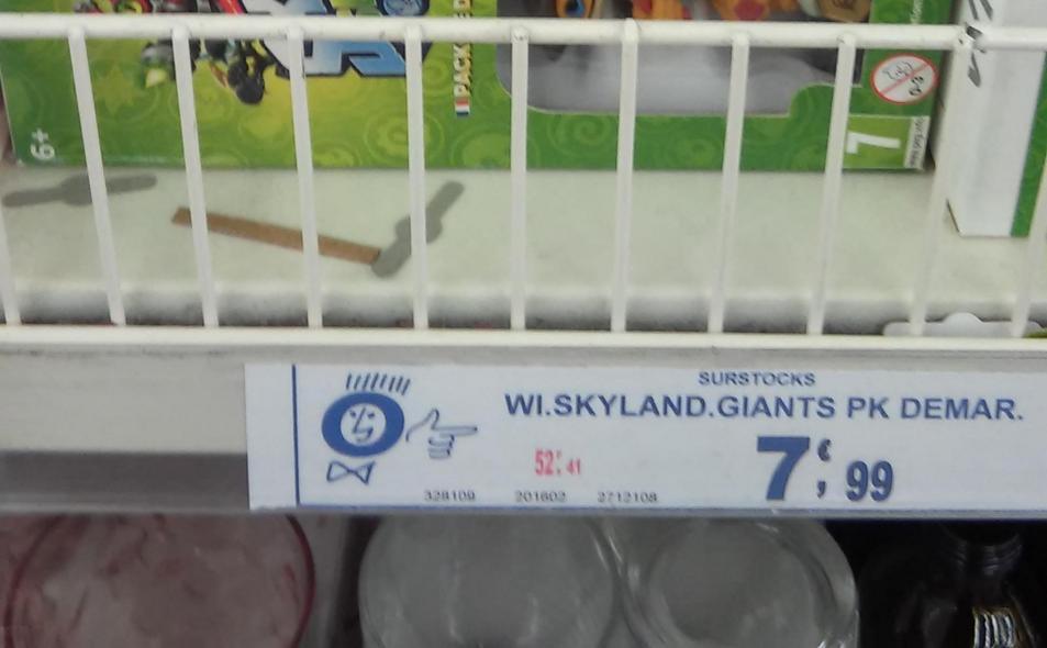 Pack de démarrage Skylanders Swap Force Xbox 360 ou Wii à 5.99  et 3ds  Swap et Giants à 7.99
