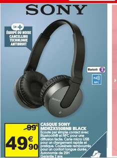 Casque Sony MDR-ZX550BN