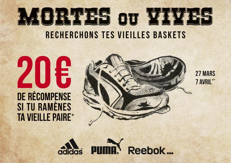 10€ à 20 € de réduction chez Sport 2000 sur des baskets neuves