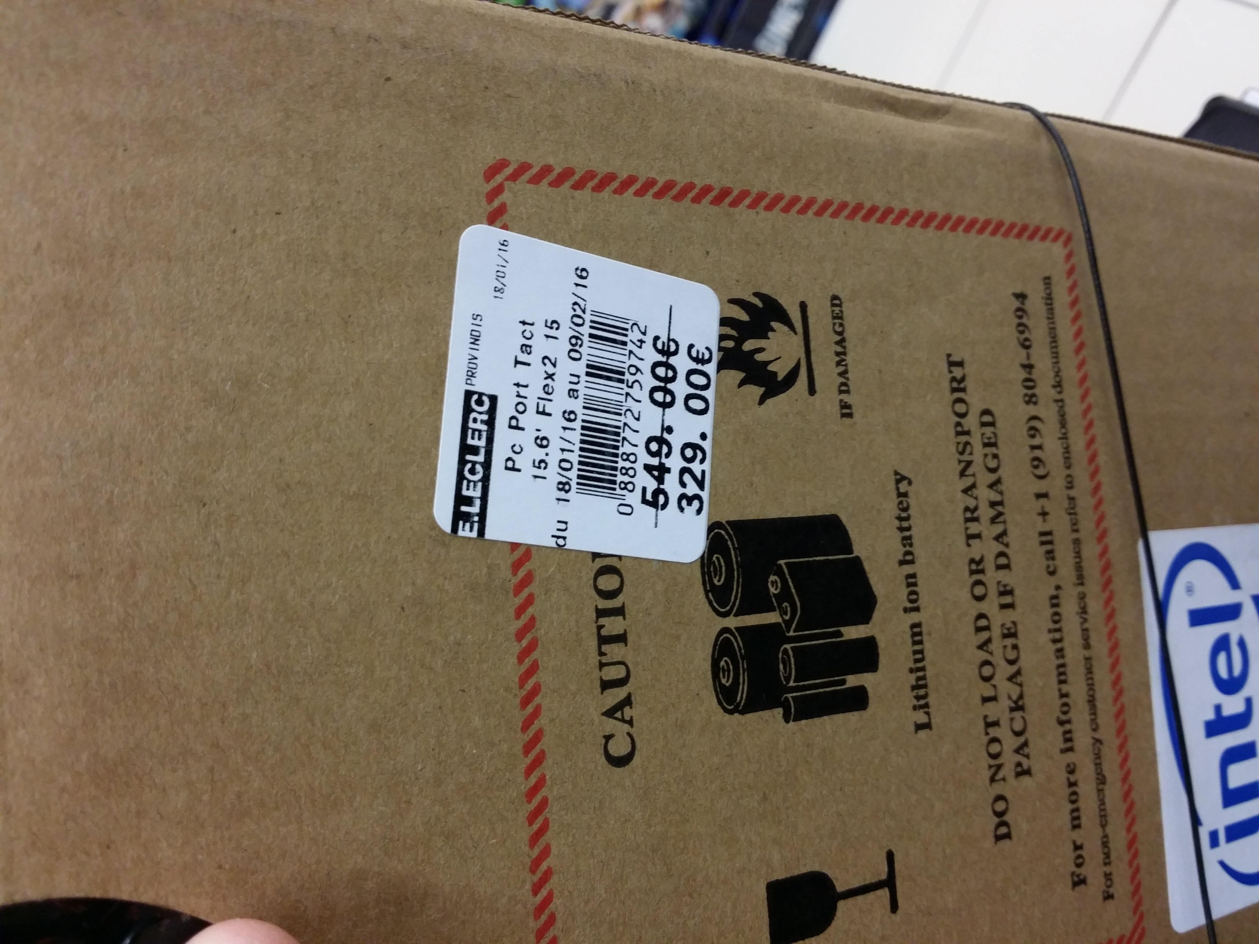 "PC Portable 15.6"" Lenovo Flex 2 (Intel Core i3-4010U, Full HD tactile, RAM 4 Go, HDD 1 To)"