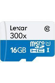 Carte mémoire microSDHC Lexar uhs-i (300x) Class 10 - 16 Go avec lecteur SDHC