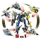 Super pack de 5 figurines Transformers 26 cm à combiner