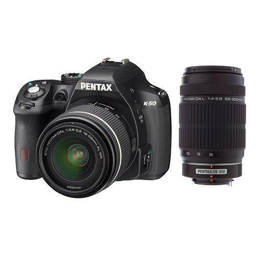 Appareil photo reflex Pentax K-50 + Objectif DAL 18-55 mm + Objectif HDDA 55-300 mm