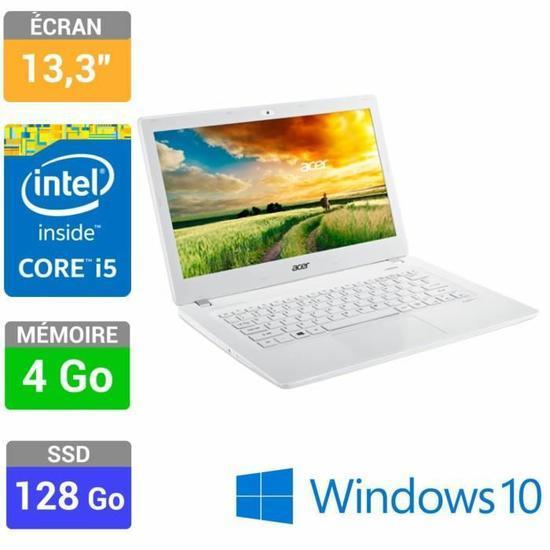 """PC Portable 13,3"""" HD  Acer  Aspire V3-371-54JK (i5 5257U, 128 Go SSD, 4 Go Ram)"""