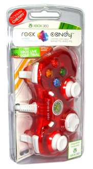Manette filaire Rock Candy rouge pour Xbox 360