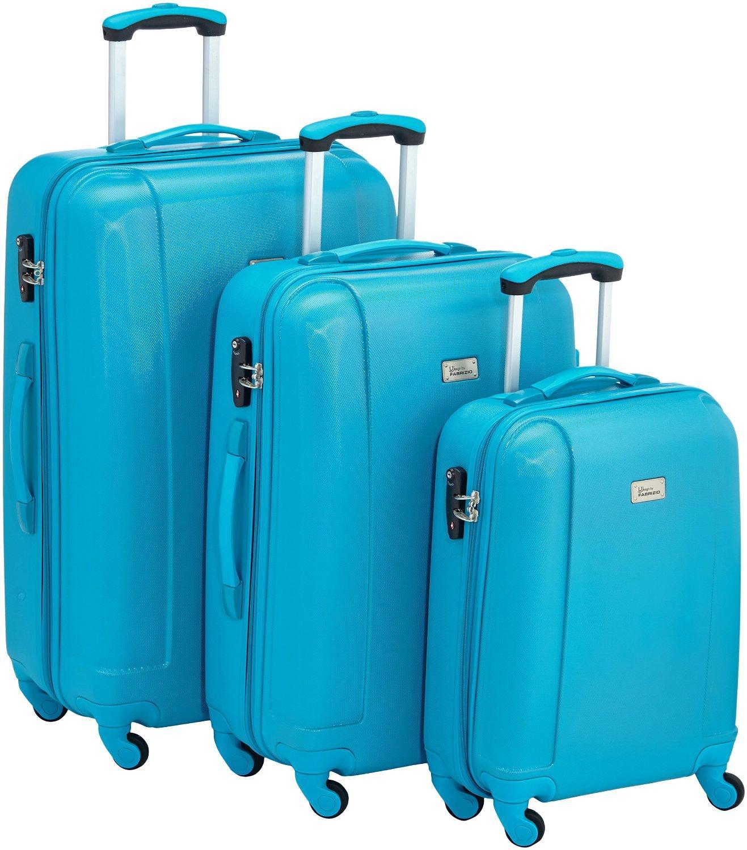 Set de 3 valises Fabrizio 10143-2500-S+M+L - Turquoise