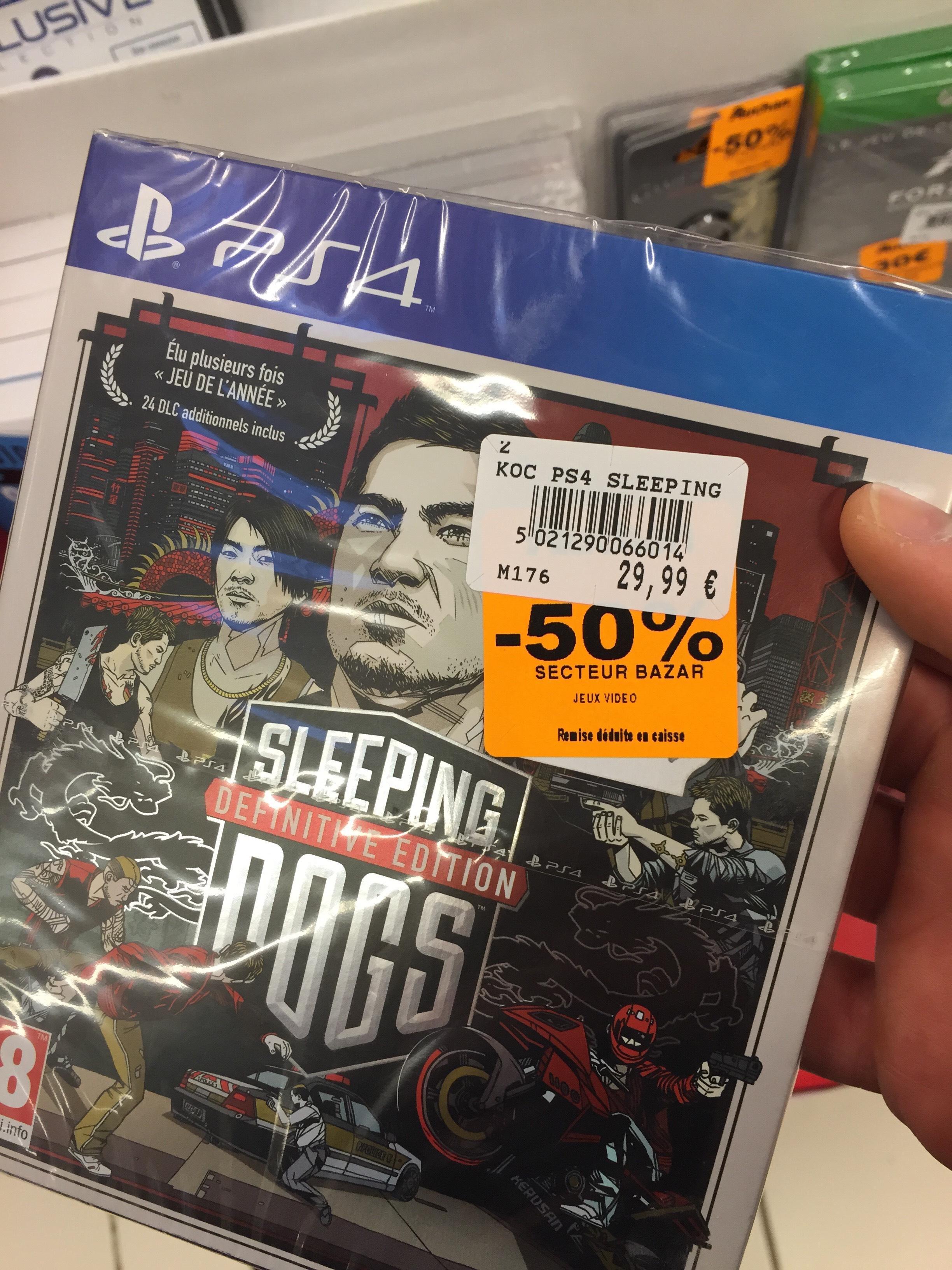 Promo jeux PS4 et Xbox One -50% - exple : Sleeping Dogs Definitive Edition et autres (voir description)