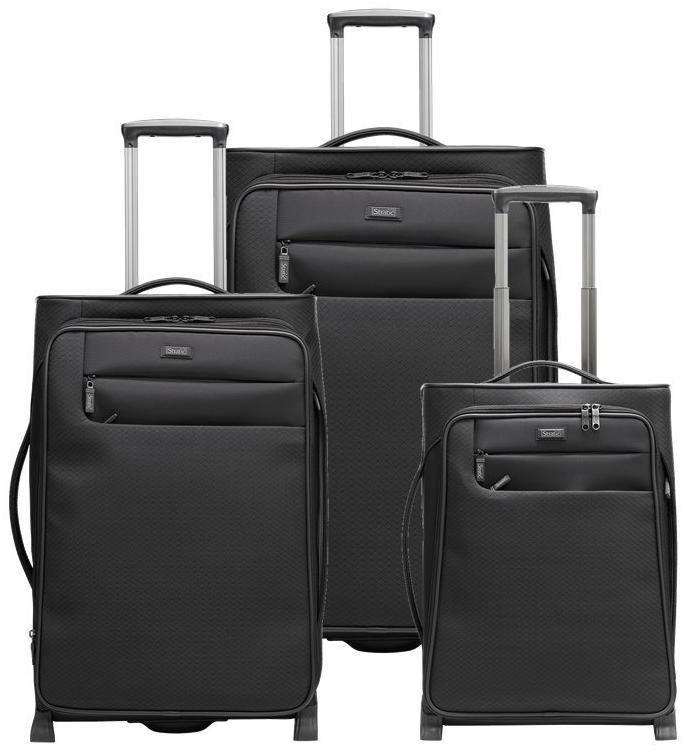 Set de 3 valises Stratic Conquest (25, 50 et 103L) - Noires
